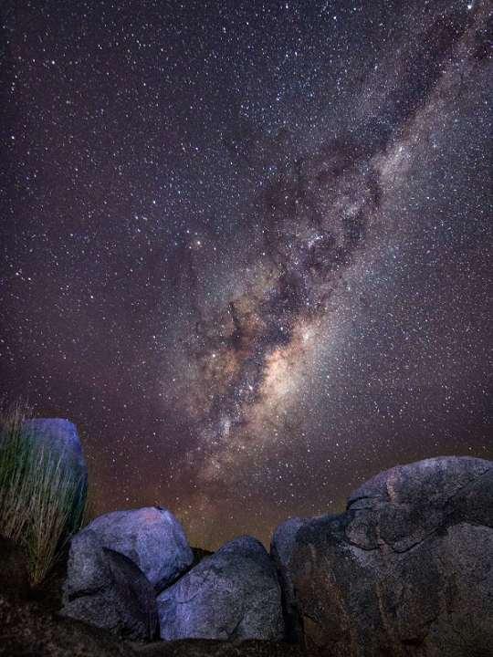 Multidimensional Universe many stars at night